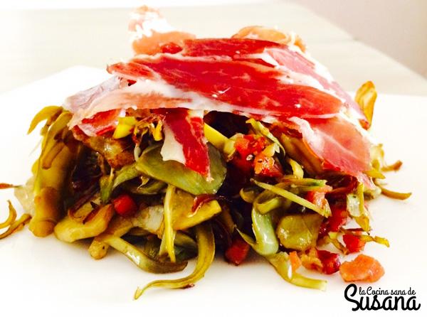 Cómo hacer las alcachofas con jamón de forma fácil y sana