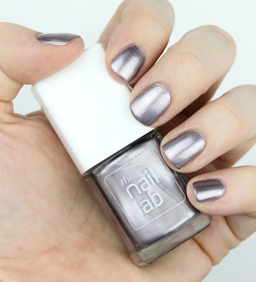 The Nail Lab Lacquer Nail Polish in Gladys nail swatch