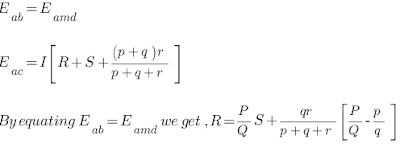 Equation for Resistance Under Measurement R