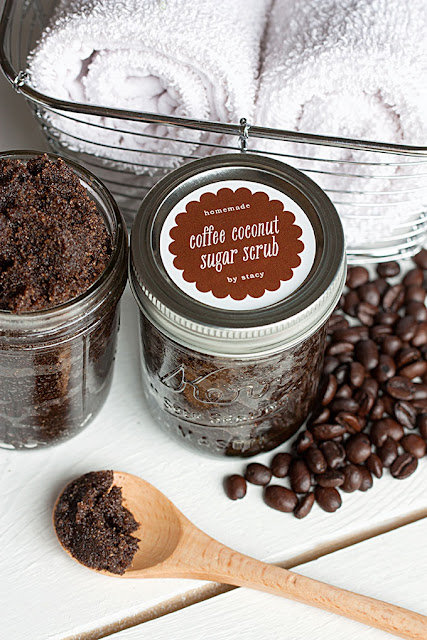 homemade sugar scrub with coffee