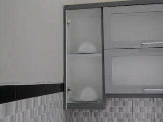 furniture semarang - kitchen set minimalis pintu kaca engsel hidrolis 02