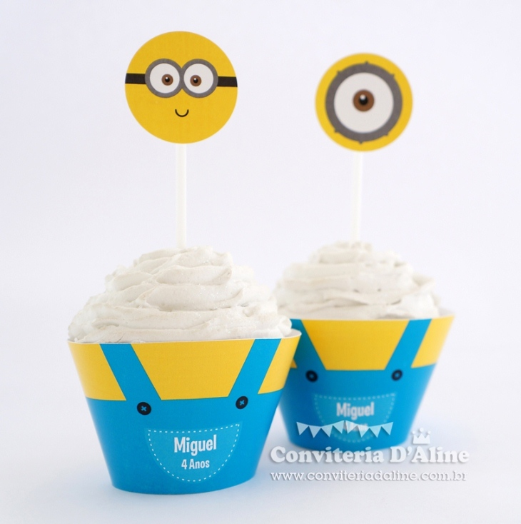 minions wrappers toppers personalizados