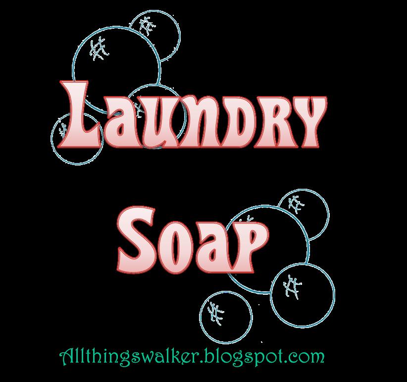 All Things Walker: DIY Laundry Soap
