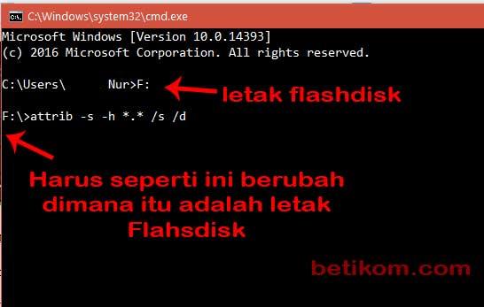 Memperbaiki Flashdisk tidak terbaca dengan CMD