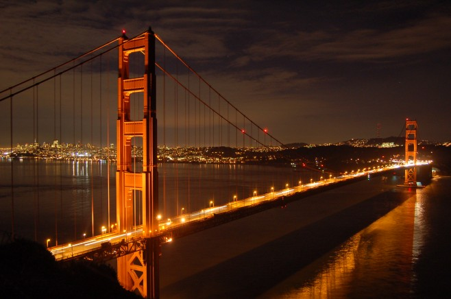 San Francisco Toyota >> Encyclopedia: Golden Gate Bridg at Night