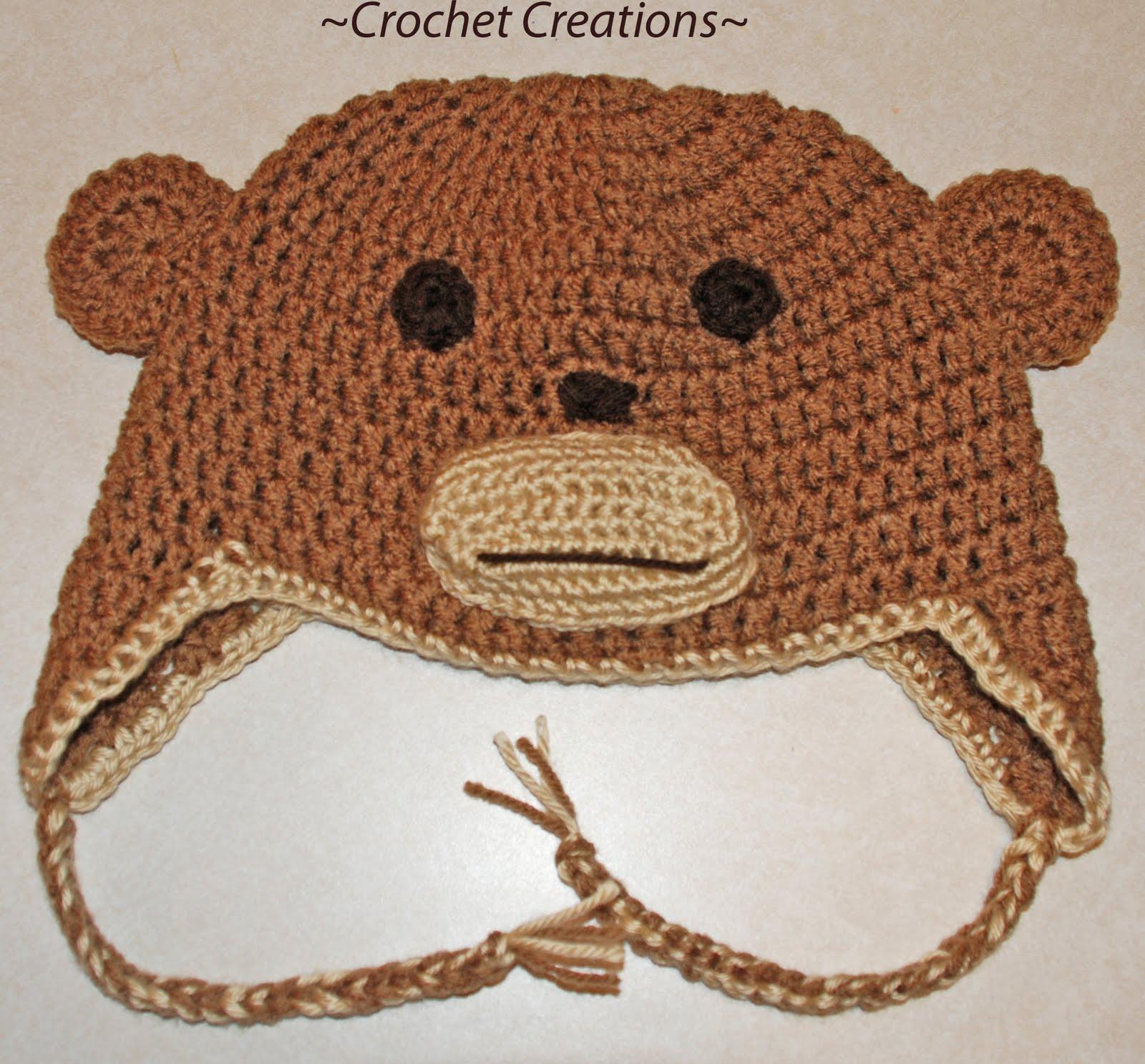 Amys Crochet Creative Creations Crochet Monkey Child Ear Flap Hat
