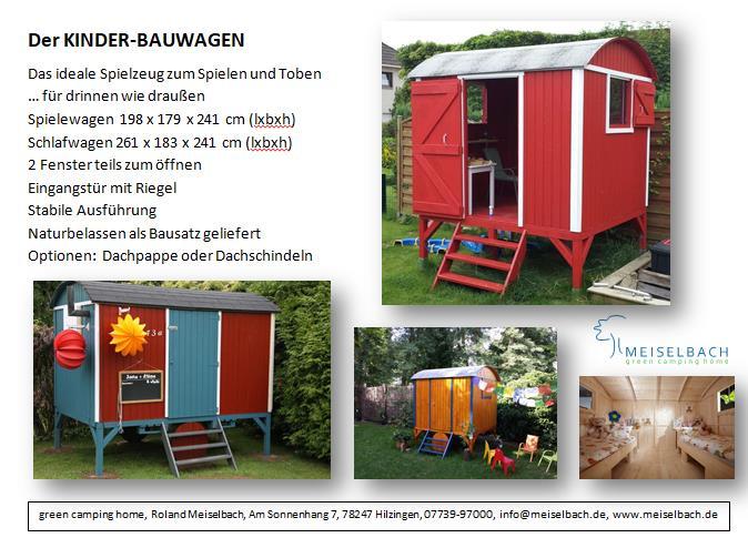 meiselbach mobilheime bauwagen f r kinder. Black Bedroom Furniture Sets. Home Design Ideas