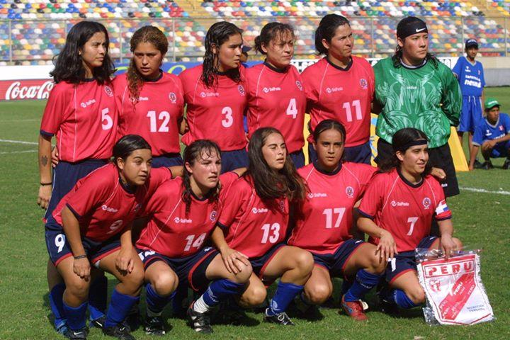 Formación de selección de Chile ante Perú, Campeonato Sudamericano Femenino 2003, 13 de abril