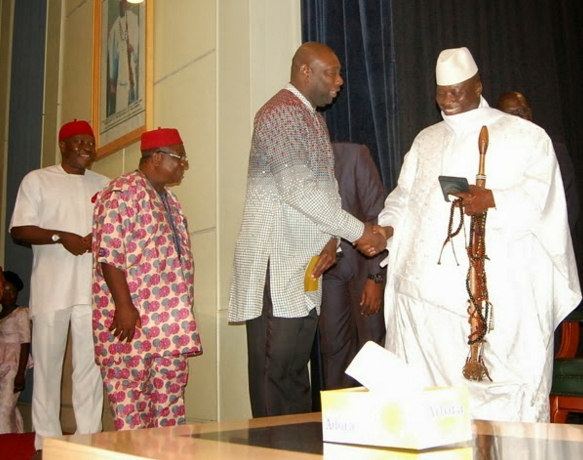 nollywood land gift gambian president
