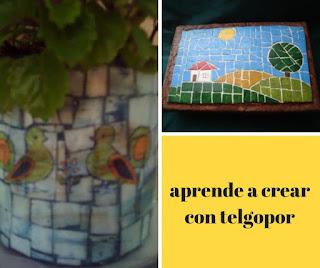 Recicla telgopor. Mosaicos con telgopor. Cómo reciclar bandejas de telgopor
