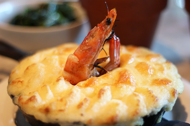 Fish Pie with Cheddar Potato Crust - The Drift Bar, London