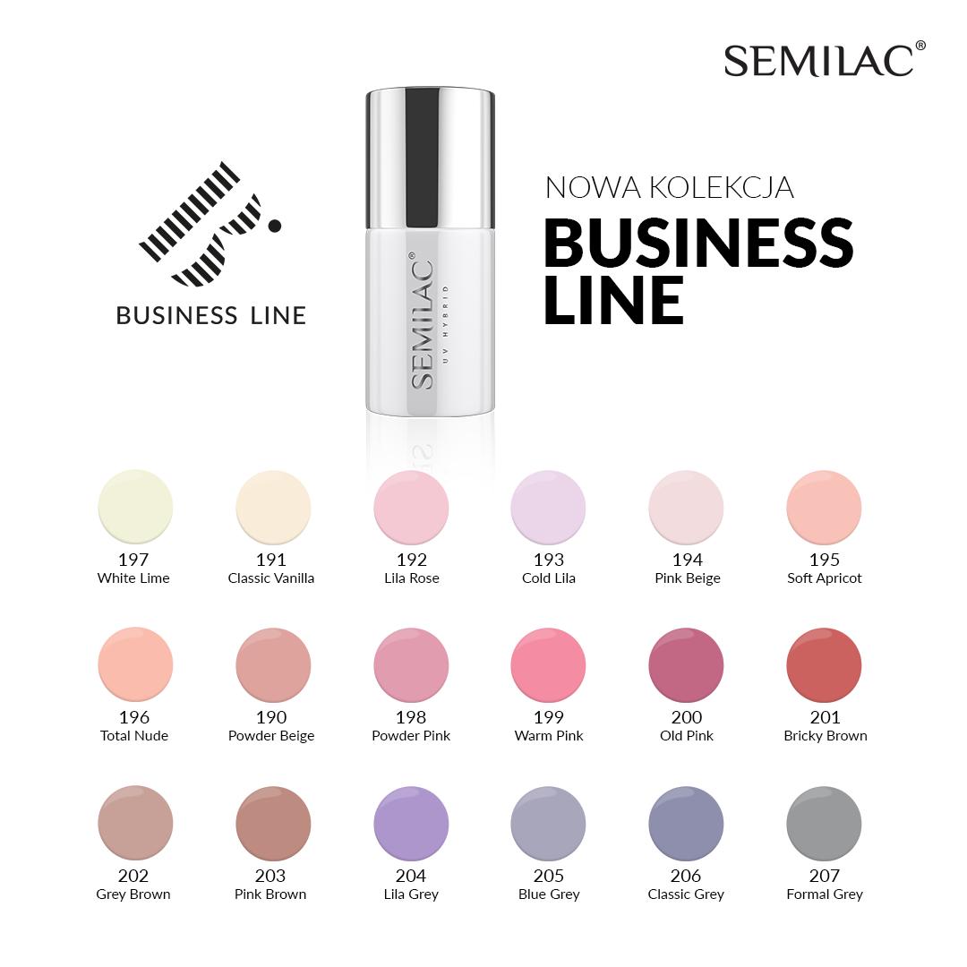business line semilac wszystkie kolory
