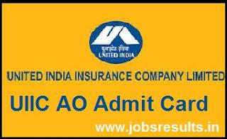 UIIC AO Admit Card