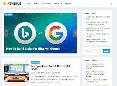 Theme Wordpress Revenue Responsive Free