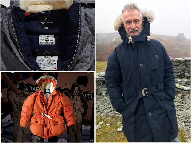 5ca0a80c56b3 I wear the Nigel Cabourn Antarctic Parka (R) Bottom (L) is the shorter  length Cabourn Everest Parka in comparison
