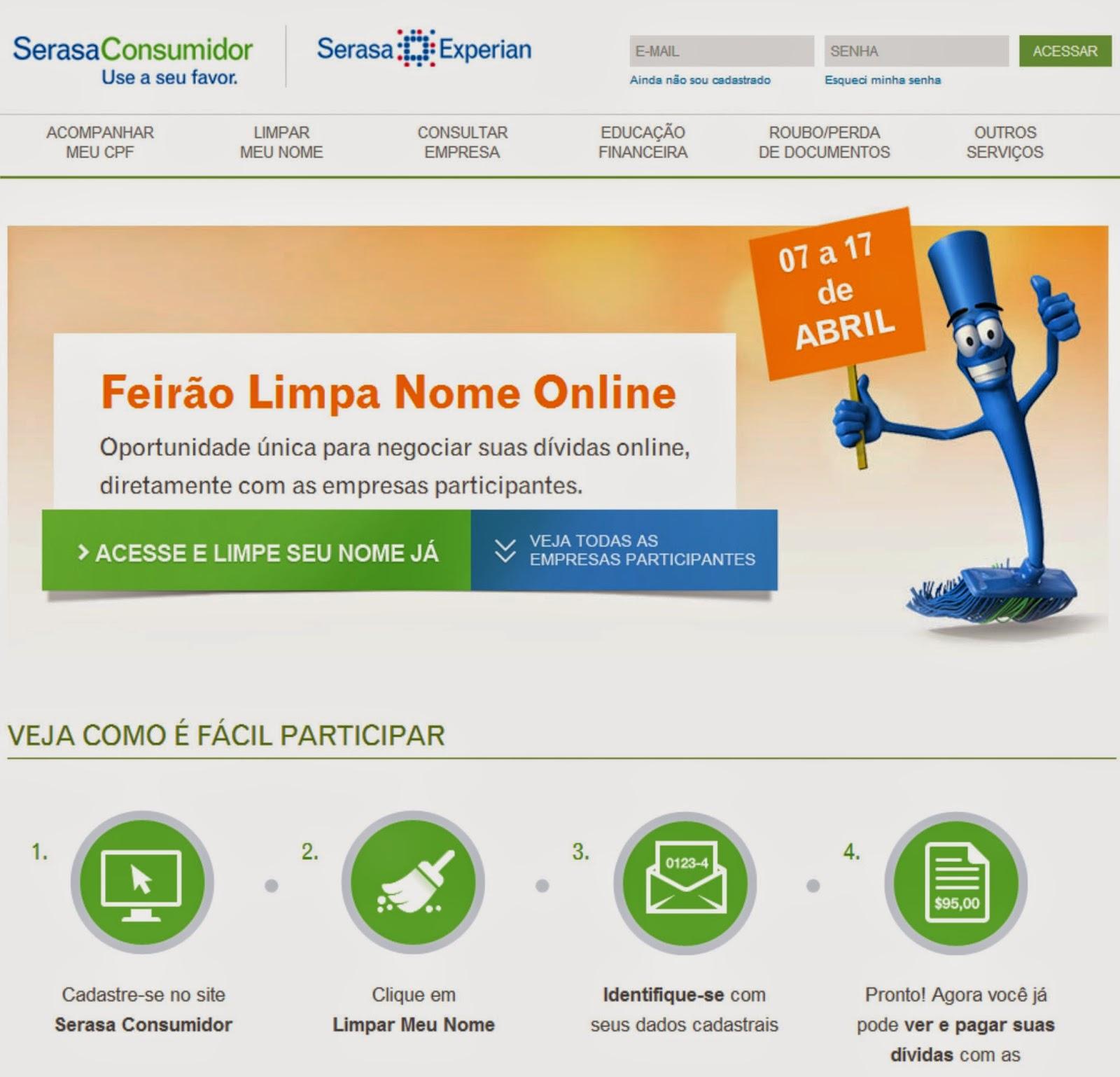 Blog Do Carlos Eugênio Serasa Promove Feirão Limpa Nome