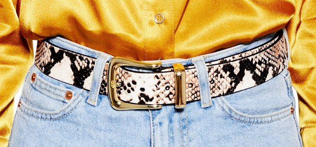 women's snake skin belt