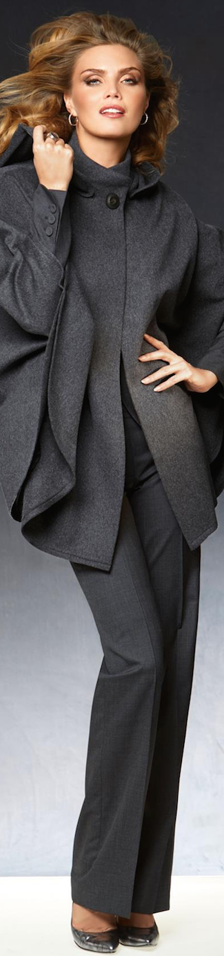 Madeleine Wool Cape