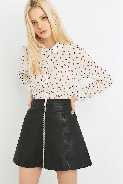 ladybird print shirt, ladybug print shirt,