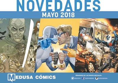 """Novedades mayo 2018 de """"Medusa Cómics"""""""