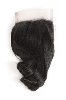 4X4 LOOSE WAVE VIRGIN HAIR LACE CLOSURE-NATURAL COLOR