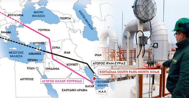 Πίσω από τον πόλεμο της Συρίας κρύβεται μια σκληρή μάχη για τον έλεγχο των αγωγών φυσικού αερίου