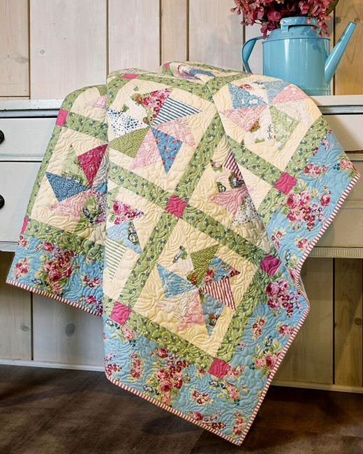 Kindred Pinwheels Quilt Free Tutorial designed by Jenny of Missouri Quilt Co