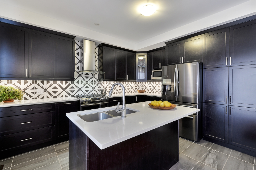 cement tiles backsplash
