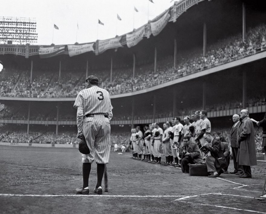#86 The Babe Bows Out, Nat Fein, 1948 - Top 100 Of The Most Influential Photos Of All Time