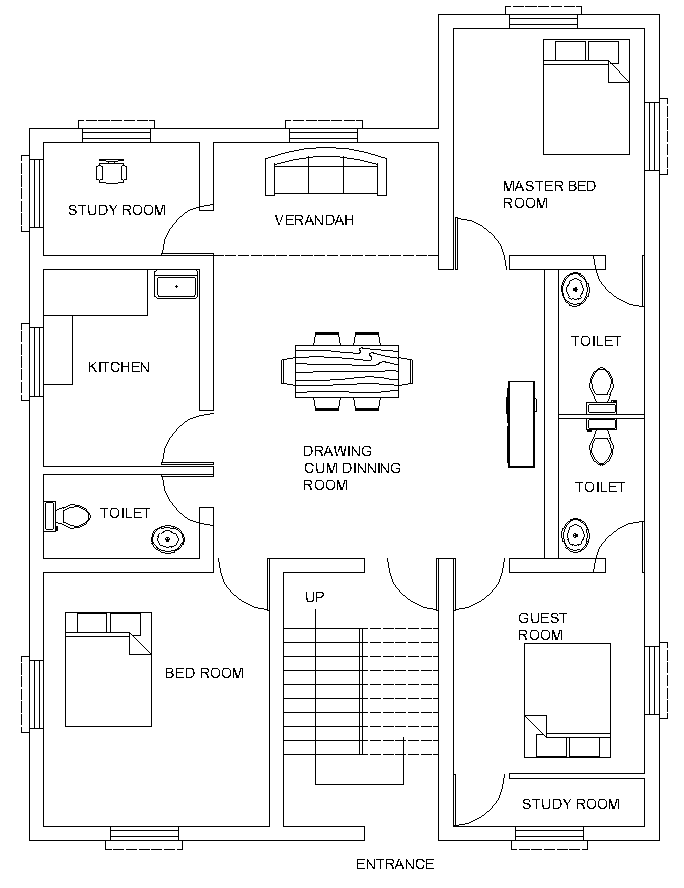 floor plan furniture symbols bedroom. A Residential Building Comprises Drawing Room, Bedroom, Dinning Hall, Kitchen, Toilet, Etc. Have Look At The Simple Layout Plan. Floor Plan Furniture Symbols Bedroom