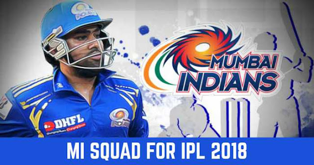 MI Team Squad for IPL 2018: Mumbai Indians Players List for IPL 2018