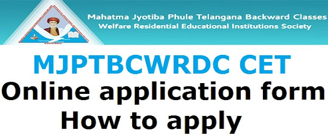 MJPTBCWRDC CET, Online application form, How to apply