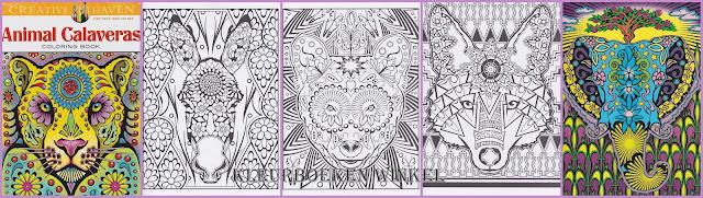 kleurboek animal calaveras