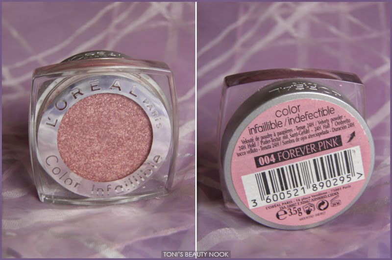 loreal infallible forever pink eyeshadow