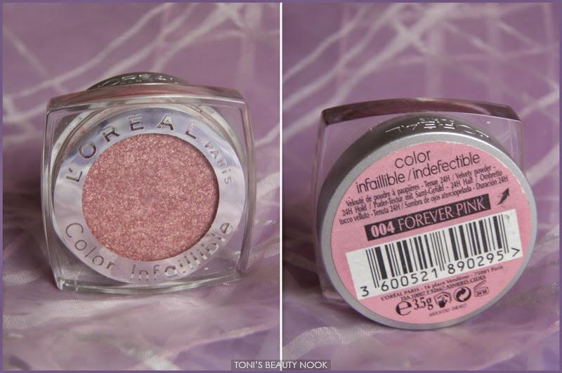 loreal infallible forever pink eyeshadow