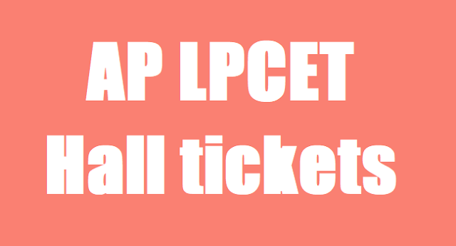 AP LPCET Hall tickets,AP HPT entrance hall tickets,AP  TPT Entrance Hall tickets