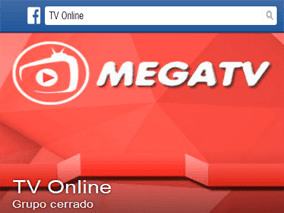 Grupo de facebook de Mega TV Plus