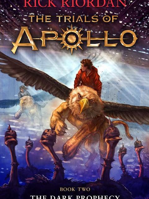 Prévia da capa: The Dark Prophecy - The Trials of Apollo
