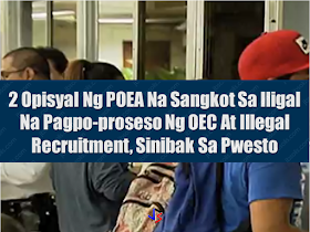 In the height of investigation against corrupt officials who are allegedly involved in illegal activities which prompted DOLE to suspend the issuance of Overseas Employment Certificates (OEC) for new applicants and direct hires, two POEA officials has been removed from their posts after being involved in illegal processing of OEC and illegal recruitment.  According to  Department of Labor and Employment (DOLE), aside from revamp, they already fired two officials who's names were not disclosed.  DOLE Usec. Dominador say said that depending on the extent of their liability, the officials will face either administrative or criminal charges which will surely go down to removal from service. Sponsored Links Meanwhile, the suspension of issuance of OEC's is still in effect due to reports that some POEA officials are conspiring with illegal recruiters and collect large sum of money amounting up to P250,000 from their fraudulent undertakings.  In spite of the existing suspension, the long queues of  applicants in recruitment agencies are still on.  DOLE said that they will lift the suspension once they are through with the investigation. The DOLE order also states that the suspension could also be extended depending on the progress of the investigation. DOLE expects that the investigation to be completed on December 1. The suspension of issuance of OEC will be lifted  as soon as it is done. Initial estimate of the POEA shows that there are about 5,000 new OEC applications everyday and it is expected that the number of OFWs who will be affected by the suspension will be around 75,000 during the 15-day suspension. Source: ABS-CBN   Advertisement Read More:      ©2017 THOUGHTSKOTO