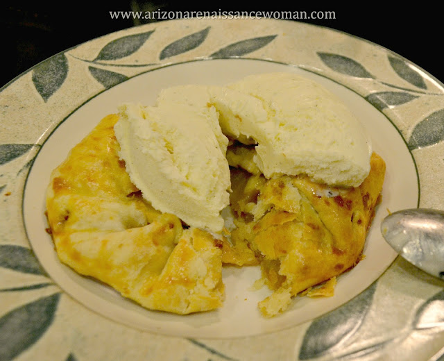 Individual Apple and White Cheddar Galettes - with Ice Cream