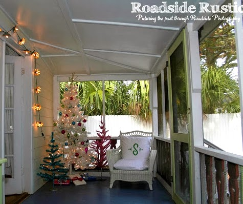 Christmas cottage porch