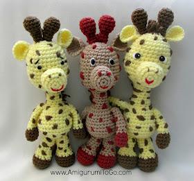 yellow crochet giraffe