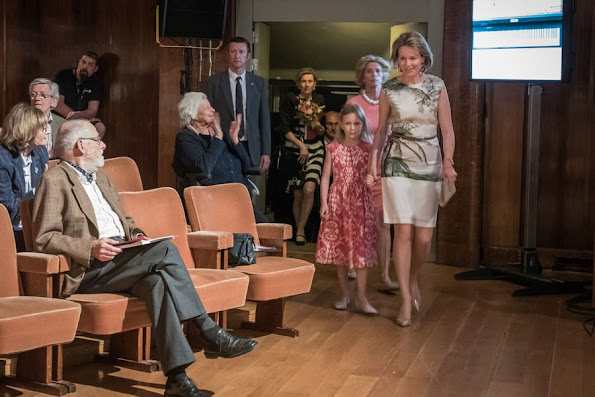 Princess Eleonore and her mother Queen Mathilde of Belgium attended the semi final session of the Queen Elisabeth Piano Competition