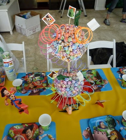 Toy Story themed centerpiece ideas