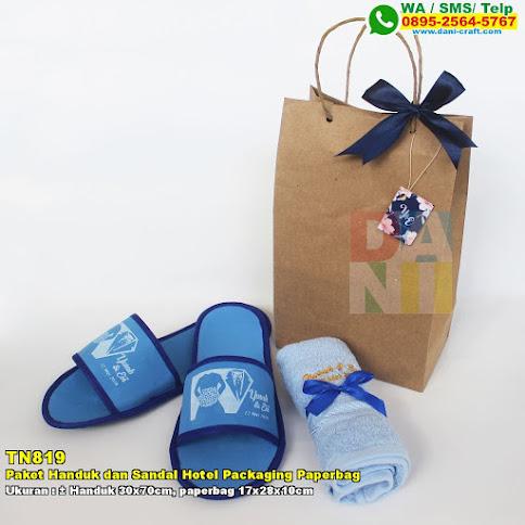 Paket Handuk Dan Sandal Hotel Packaging Paperbag
