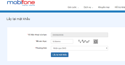 4 bước lấy lại mật khẩu Mobifone Portal