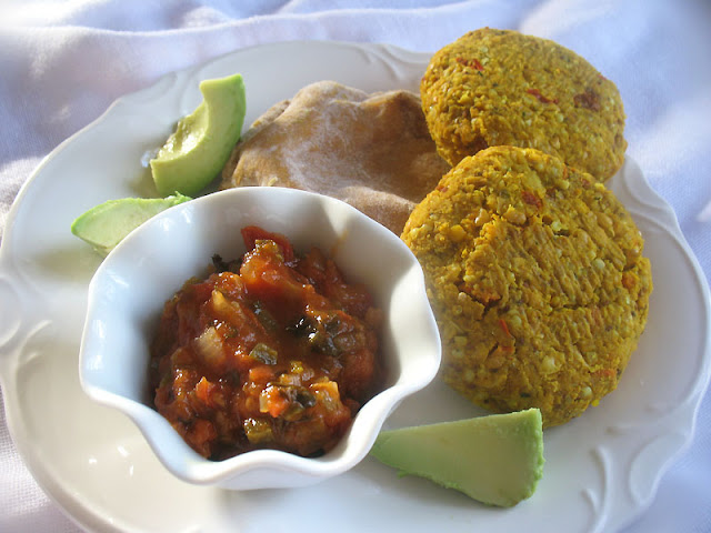 Red Lentil, Chickpea and Millet Patties