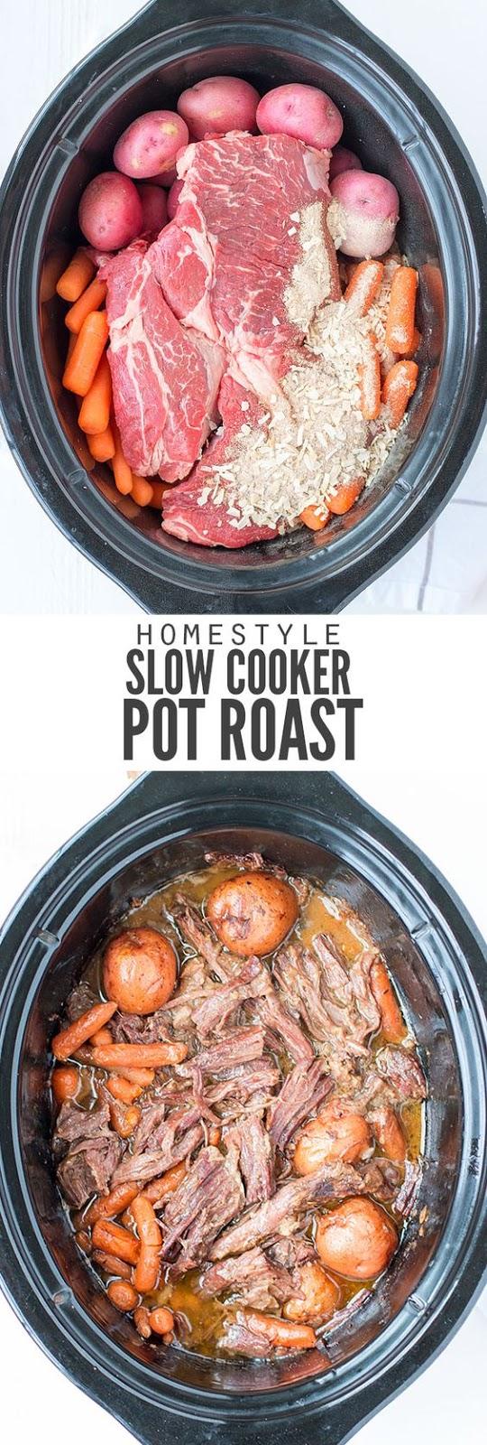 CLASSIC SLOW COOKER POT ROAST #roast #cookerpotroast #homestyle #potroast #healthyrecipes #healthydinner #easyrecipes