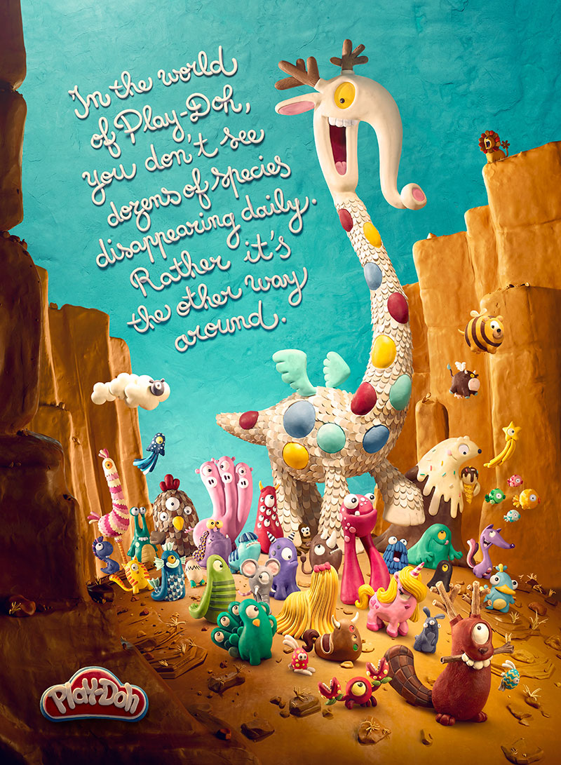 Colorful Posters for Play-Doh by DDB Paris