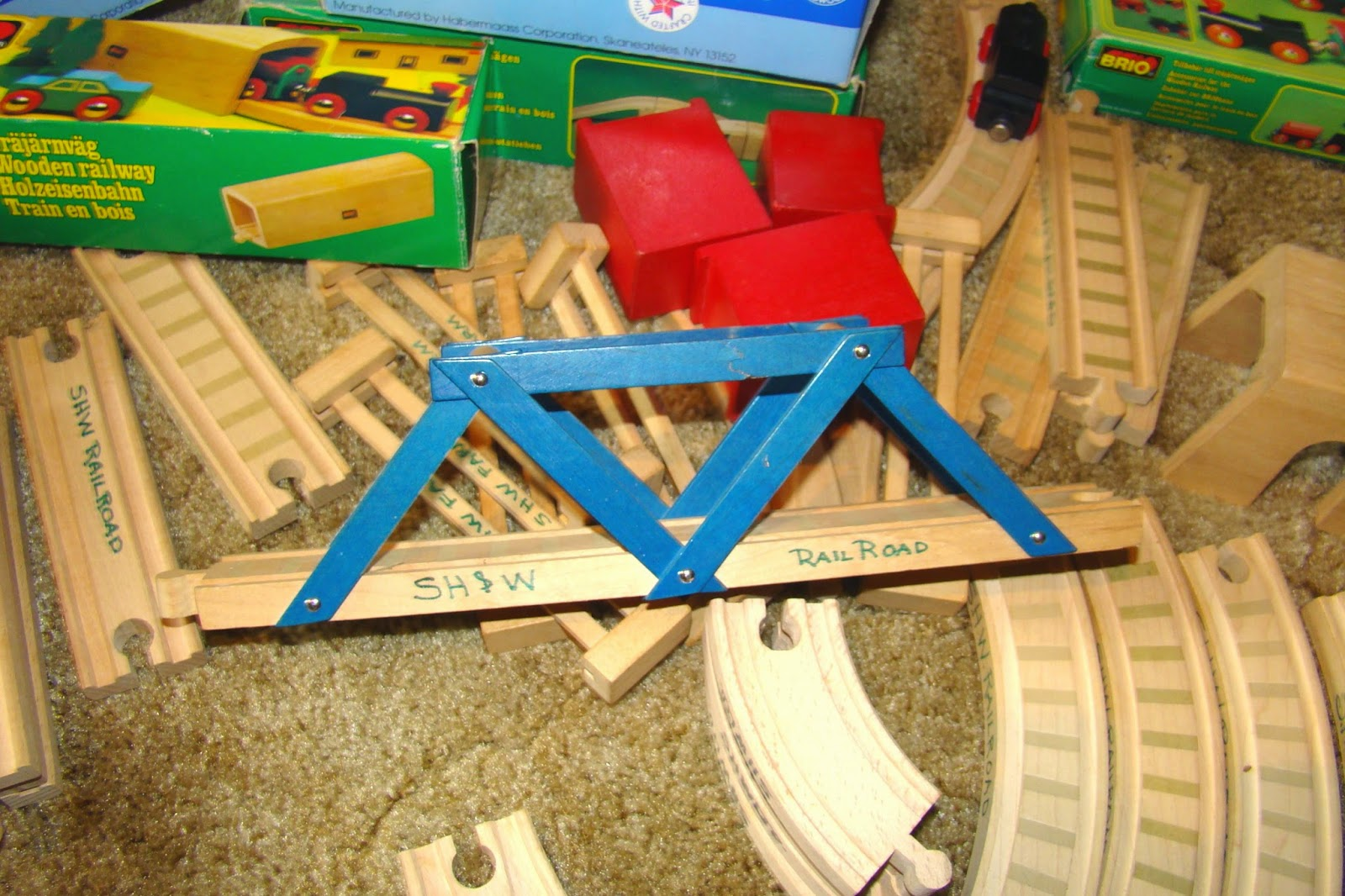 Unassembled train parts are like incomplete jobs at your house